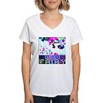Disco Fairy Drag Diva Women's V-Neck T-Shirt