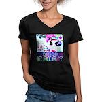Disco Fairy Drag Diva Women's V-Neck Dark T-Shirt