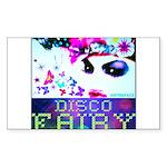 Disco Fairy Drag Diva Sticker (Rectangle)