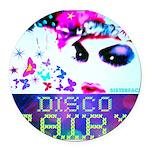 Disco Fairy Drag Diva Round Car Magnet
