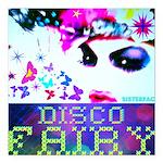 """Disco Fairy Drag Diva Square Car Magnet 3"""" x"""