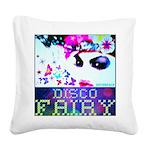 Disco Fairy Drag Diva Square Canvas Pillow