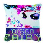 Disco Fairy Drag Diva Woven Throw Pillow