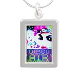 Disco Fairy Drag Diva Silver Portrait Necklace