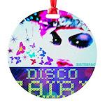 Disco Fairy Drag Diva Round Ornament