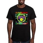 Star Disco Graphic Men's Fitted T-Shirt (dark)