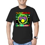 Star Disco Graphic Men's Fitted T-Shirt (dark)