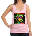 Star Disco Graphic Racerback Tank Top
