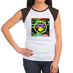 Star Disco Graphic Women's Cap Sleeve T-Shirt