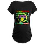 Star Disco Graphic Maternity Dark T-Shirt
