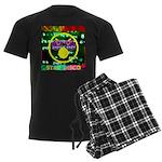 Star Disco Graphic Men's Dark Pajamas