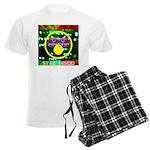 Star Disco Graphic Men's Light Pajamas