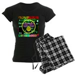 Star Disco Graphic Women's Dark Pajamas