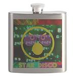 Star Disco Graphic Flask