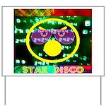Star Disco Graphic Yard Sign