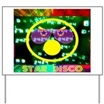 Star Disco Graphic Yard Sign