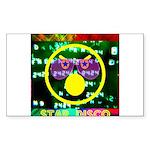 Star Disco Graphic Sticker (Rectangle 10 pk)