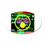 Star Disco Graphic 35x21 Oval Wall Decal