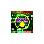 Star Disco Graphic 35x21 Wall Decal