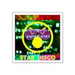 Star Disco Graphic Square Sticker 3