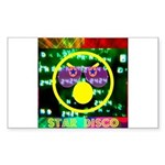 Star Disco Graphic Sticker (Rectangle)
