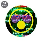 """Star Disco Graphic 3.5"""" Button (10 pack)"""