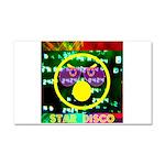 Star Disco Graphic Car Magnet 20 x 12