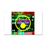 Star Disco Graphic Rectangle Car Magnet