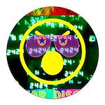 Star Disco Graphic Round Car Magnet