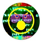 Star Disco Graphic Round Car Magnet