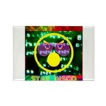 Star Disco Graphic Rectangle Magnet