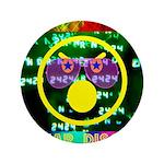 """Star Disco Graphic 3.5"""" Button"""