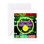 Star Disco Graphic Greeting Card