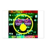 Star Disco Graphic Postcards (Package of 8)