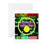 Star Disco Graphic Greeting Cards (Pk of 10)