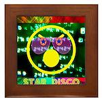 Star Disco Graphic Framed Tile