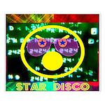 Star Disco Graphic Small Poster