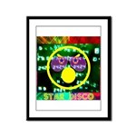 Star Disco Graphic Framed Panel Print