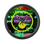 Star Disco Graphic Large Wall Clock