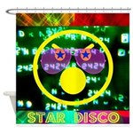 Star Disco Graphic Shower Curtain