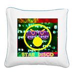 Star Disco Graphic Square Canvas Pillow