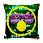 Star Disco Graphic Woven Throw Pillow