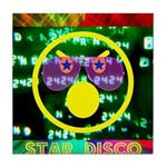 Star Disco Graphic Tile Coaster