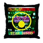 Star Disco Graphic Throw Pillow