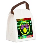 Star Disco Graphic Canvas Lunch Bag