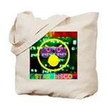 Star Disco Graphic Tote Bag