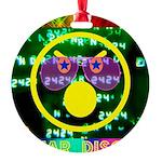 Star Disco Graphic Round Ornament