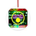 Star Disco Graphic Ornament (Round)