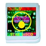 Star Disco Graphic baby blanket
