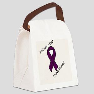 cancerribbon_purple Canvas Lunch Bag